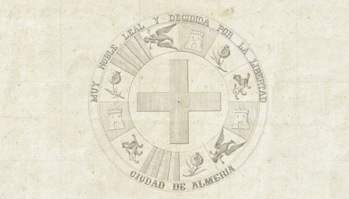 Mapa científico de la Ciudad de Almería 1864